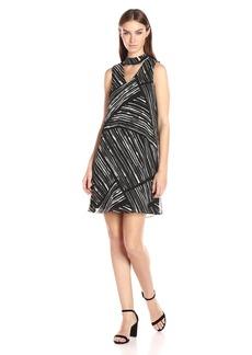 Calvin Klein Women's Printed Chiffon Midi Dress