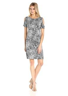 Calvin Klein Women's Printed Cold Shoulder Dress  XL