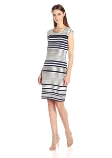 Calvin Klein Women's Printed Dress with Zipper  M