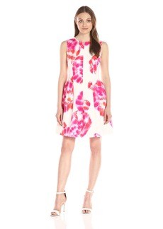 Calvin Klein Women's Printed Fit and Flare Dress