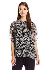 Calvin Klein Women's Printed Kimono Sleeve Top