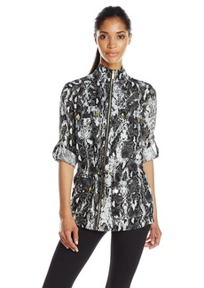 Calvin Klein Women's Printed Linen Jacket