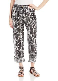 Calvin Klein Women's Printed Linen Tab Cuff Pant