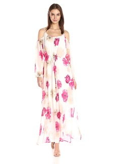 Calvin Klein Women's Printed Off The Shoulder Maxi Dress  S