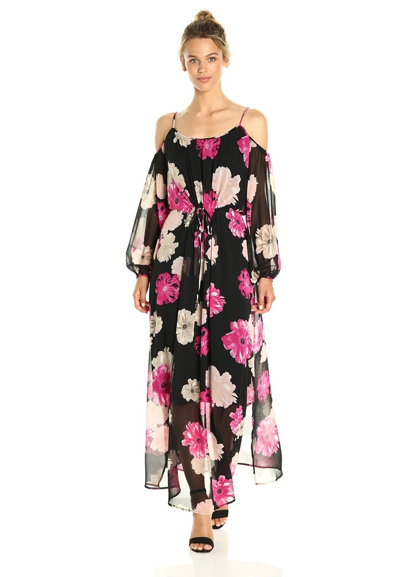 Women S Printed Off The Shoulder Maxi Dress Xs