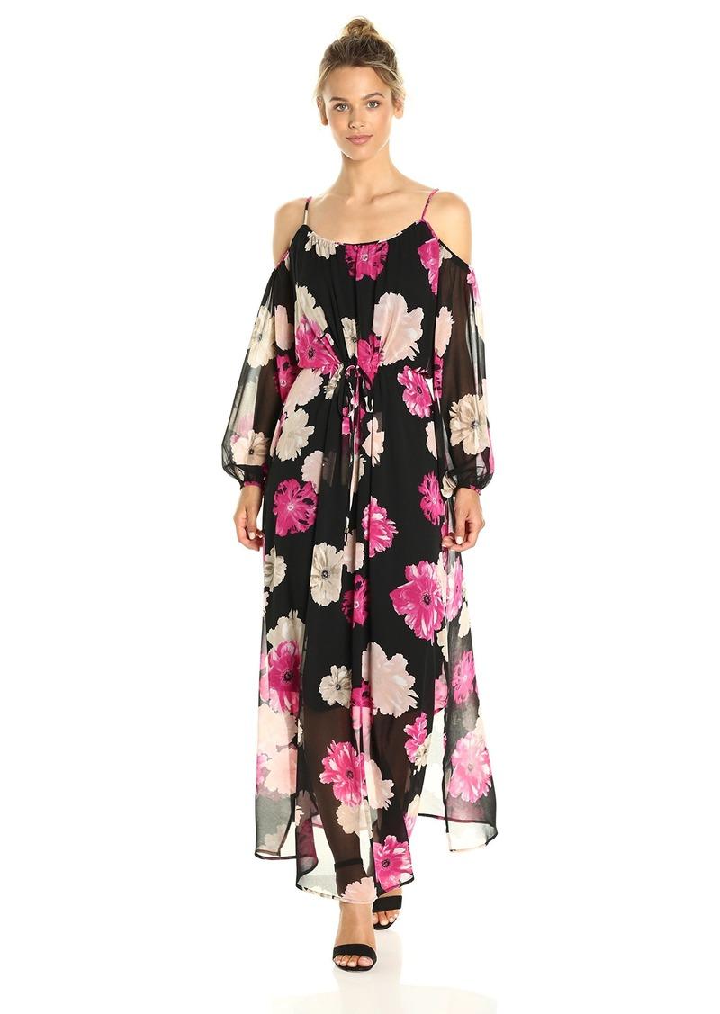 Calvin Klein Women's Printed Off The Shoulder Maxi Dress  XS