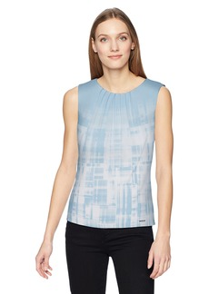 Calvin Klein Women's Printed Pleat Neck Cami  M
