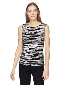 Calvin Klein Women's Printed Pleat Neck Cami  XL