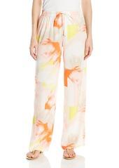 Calvin Klein Women's Printed Pull On Pant Latte/Koi CKSP