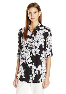 Calvin Klein Women's Printed Roll Sleeve Tunic