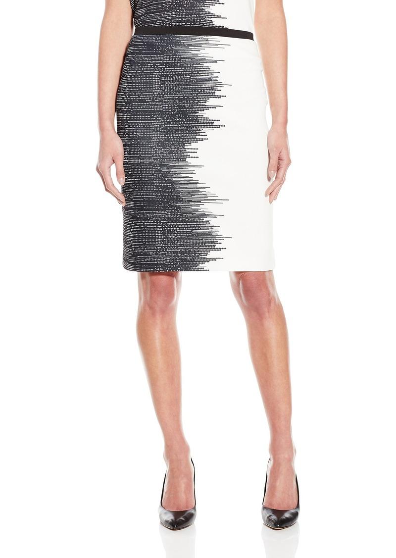 Calvin Klein Women's Printed Scuba Pencil Skirt