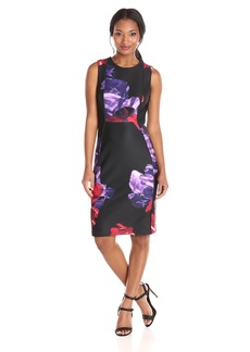 Calvin Klein Women's Printed Scuba Sheath Dress