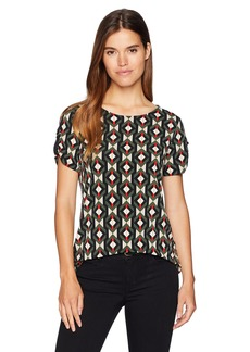 Calvin Klein Women's Printed Short Sleeve with D Ring Detail  S