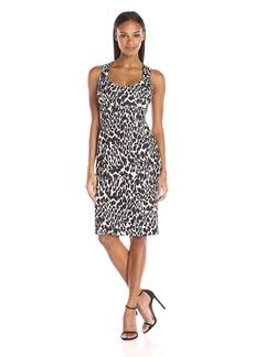 Calvin Klein Women's Printed Sleeveless Midi Sheath