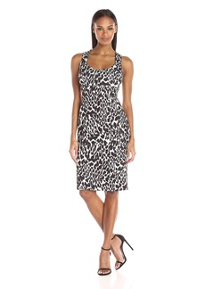 Calvin Klein Women's Printed Sleeveless Midi Sheath