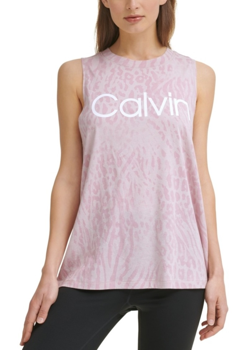 Calvin Klein Performance Women's Printed Sleeveless Top