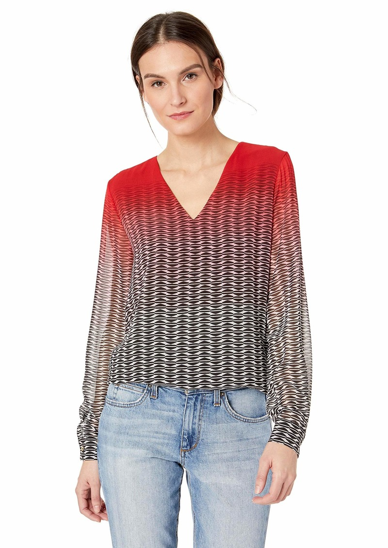 Calvin Klein Women's Printed V-Neck Tunic  XL