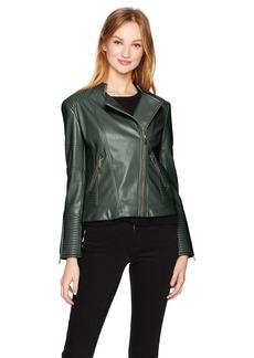 Calvin Klein Women's PU Jacket With Seaming  XL