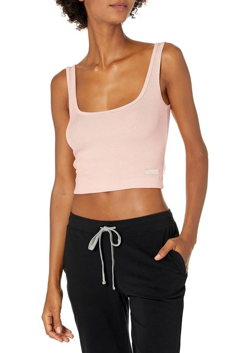 Calvin Klein Women's Pure Ribbed Lounge Tank Top