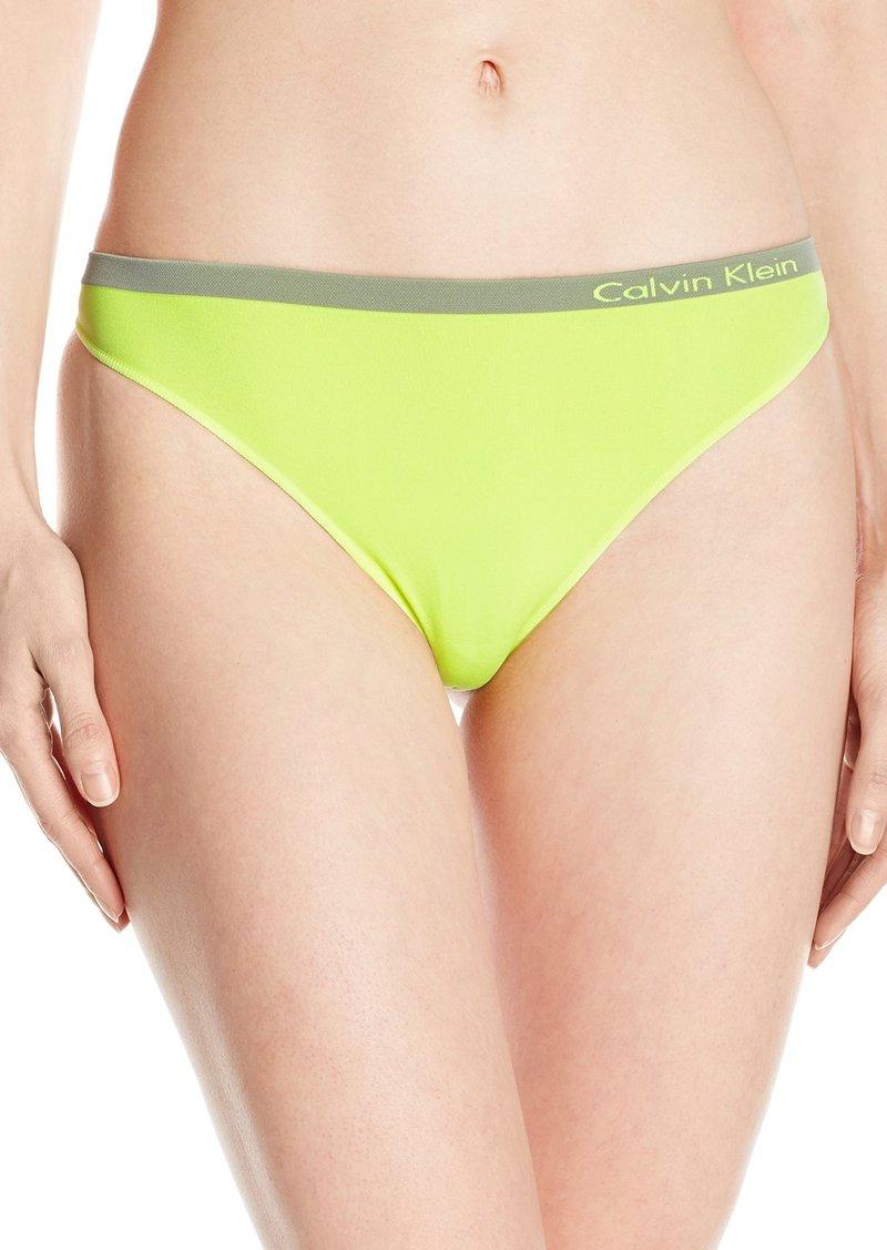 07380923261d13 Calvin Klein Women's Pure Seamless Thong Panty Bright Flash_Vision ...