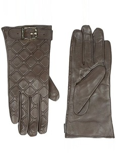 Calvin Klein Women's Quilted Buckle Gloves