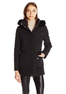Calvin Klein Women's Quilted Jacket W/ Zips and Snaps  M