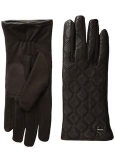 Calvin Klein Women's Quilted Zipper Gloves Accessory