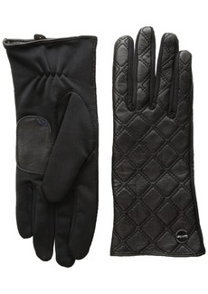 Calvin Klein Women's Quilted Zipper Gloves Accessory