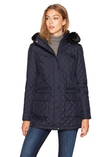 Calvin Klein Women's Quilted Zipper Jacket  S