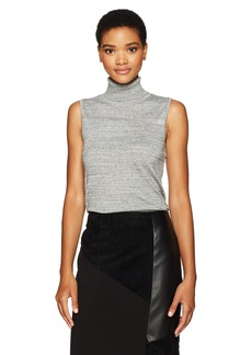 Calvin Klein Women's Racer Turtleneck Sweater  L
