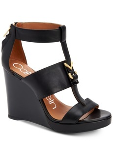 Calvin Klein Women's Racquel Wedge Sandals Women's Shoes