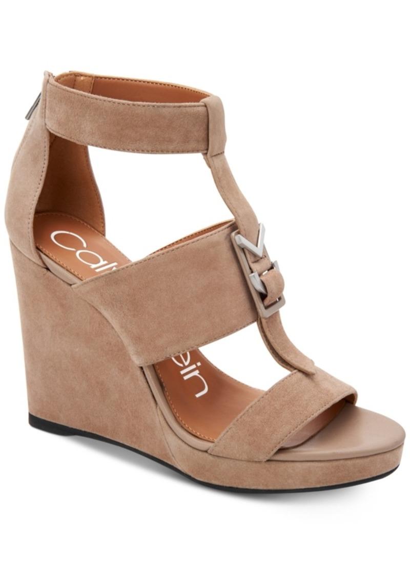 04daac4c0b5 Calvin Klein Calvin Klein Women s Racquel Wedge Sandals Women s Shoes