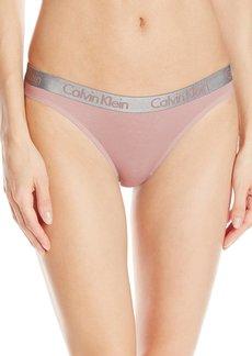 Calvin Klein Women's Radiant Logo Cotton Thong Panty  L