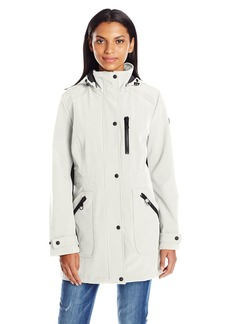 Calvin Klein Women's Rain Anorak Single Breasted Soft Shell Jacket  L
