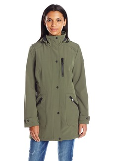Calvin Klein Women's Rain Anorak Single Breasted Soft Shell Jacket  XS