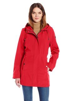 Calvin Klein Women's Rain Trench Coat Soft Shell Jacket with Hood  S
