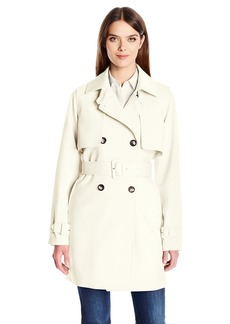 Calvin Klein Women's Rain Trench Jacket with Belt  M