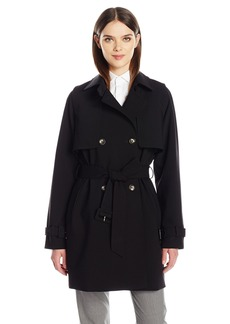Calvin Klein Women's Rain Trench Jacket with Belt  S