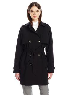 Calvin Klein Women's Rain Trench Jacket with Belt  XS