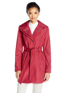 Calvin Klein Women's Rain Trench Single Breasted Jacket  L