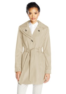 Calvin Klein Women's Rain Trench Single Breasted Jacket  XL