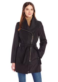 Calvin Klein Women's Rain Trench Zip Cotton Jacket with Belt  XL