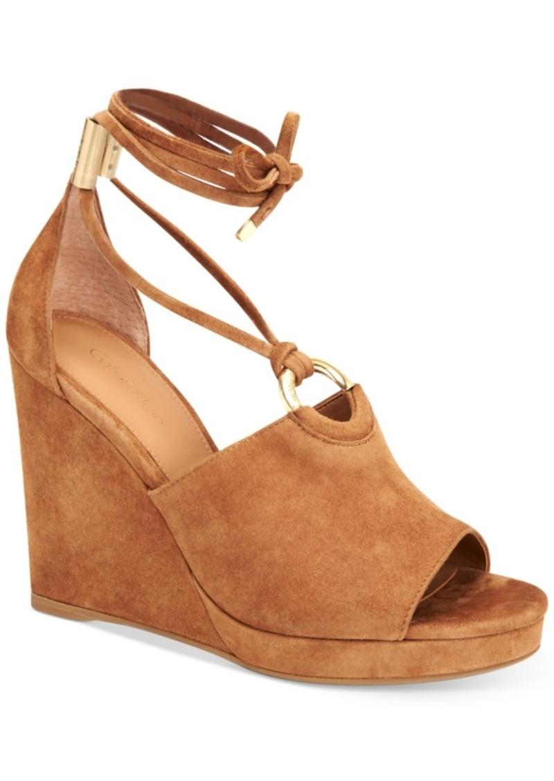 ed9cda586d5 Calvin Klein Calvin Klein Women s Ramona Wedge Sandals Women s Shoes ...