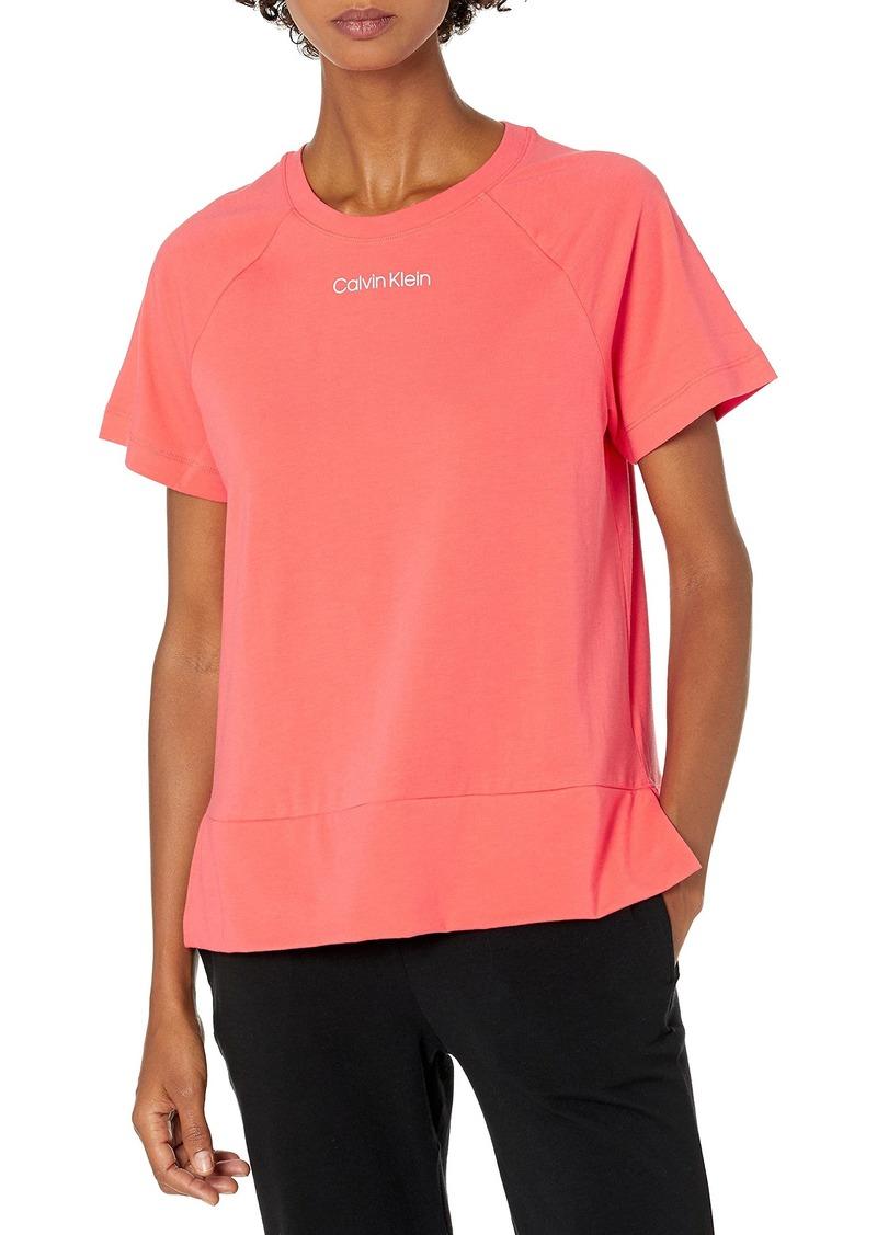 Calvin Klein Women's Reconsidered Comfort Short Sleeve Lounge Crew Neck T-Shirt