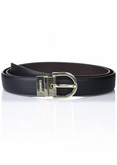 Calvin Klein Women's Reversible Pebble Belt black/Brown