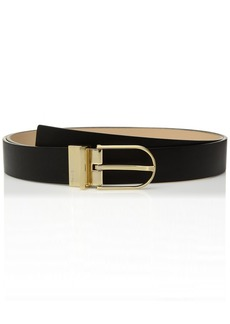 Calvin Klein Women's Reversible Smooth Harness Belt black/Nude L