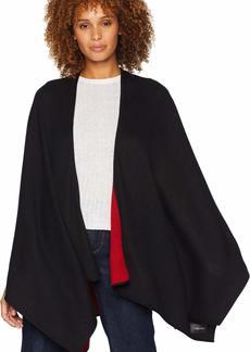 Calvin Klein Women's Reversible Solid Shawl black/rouge