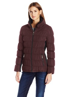 Calvin Klein Women's Rib Collar Puffer Jacket  M