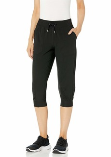 Calvin Klein Women's Premium Performance Rib Cuffed Capri Pant (Standard and Plus)
