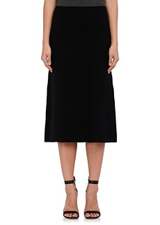 Calvin Klein Women's Rib-Knit Cashmere-Blend Flared Skirt